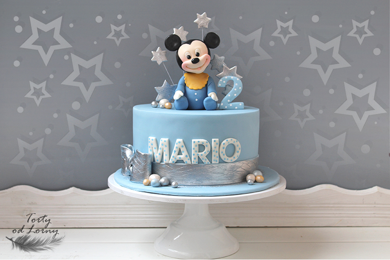 Mickey mouse baby cake